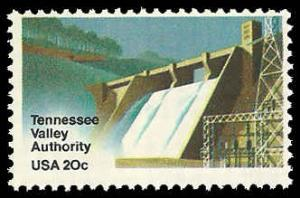 PCBstamps    US #2042 20c Tennessee Valley Authority, 1983, MNH, (4)