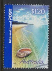 Australia SG 2500  Shell on Sandy Beach  International Post 2005