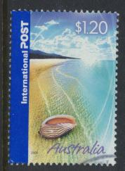 Australia SG 2500  Shell on Sandy Beach  International Post 2005