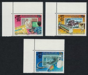 New Caledonia 50th Anniversary of OPT 3v Corners SG#1446-1448 MI#1473-1475