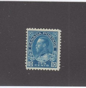 CANADA # 117 FVF-MH KGV 10cts BLUE CAT VALUE $30+