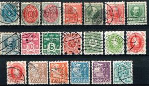 Denmark MiniLOT 20 All Different Used