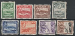 ANTIGUA 1938 KGVI PICTORIAL TO 1/-
