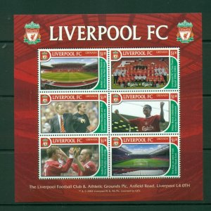 Grenada #3292 (2002 Liverpool Football Club sheet) VFMNH CV $6.50