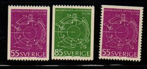 Sweden Sc 889-91 1971 Abstract Music stamp set mint NH
