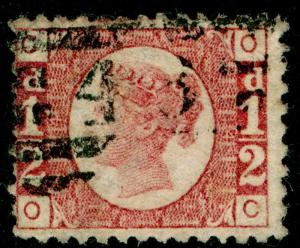 SG48, ½d rose-red PLATE 14, FINE USED. Cat £22. OC