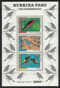 Burkina Faso Gonolek Bishop Cordon-bleu Birds MS SG#MS1121 MI#Block 145