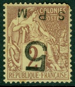 EDW1949SELL : ST PIERRE 1885 Scot #9 VF, Mint OG We cannot verify ovpt Cat $7000
