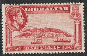 GIBRALTAR 1938 KGVI THE ROCK 11/2D PERF 13.5