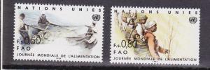 United Nations - Geneva # 122-123, Mint Never Hinged Set