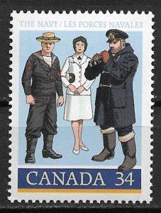 1985 Canada 1075 Royal Canadian Navy 75th Anniv. MLH