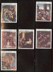 Paraguay Scott 1210, 1216-16 MNH** 1969 Nativity Art stamps