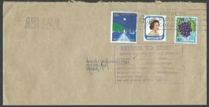 NEW ZEALAND TO TONGA 1991 cover - large return to sender handstamp.........64394