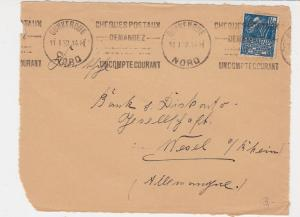France 1932 Dunkirk Nord Cancels Cheques Slogans  Stamp Cover FRONT Ref 29787