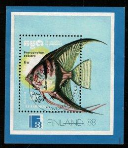 FINLAND 1988, A fish, Block (Т-7194)