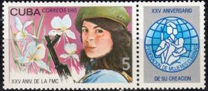 CUBA Sc# 2806  CUBAN WOMENS' FEDERATION organization  1985  MNH