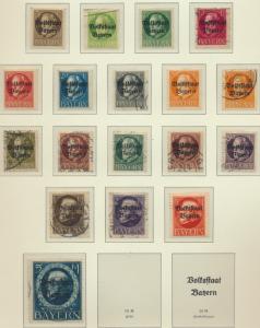 Bavaria Stamps Scott #136-153, Most Used/Some Mint Hinged, Short Set - Free U...