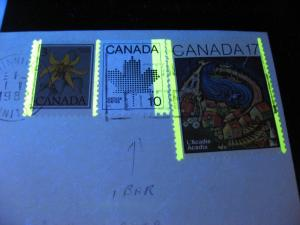 CANADA Sc 944 10c booklet 1 bar tag error G1aR on cover! Check it out!