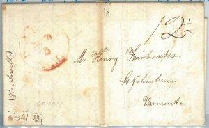 72331 - UNITED STATES USA - PREPHILATELIC Cover:  DERRY, NH  1842 - 12 1/2 Black