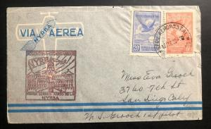 1930 Buenos Aires Argentina First Flight Cover FFC To San Diego Ca USA NYRBA