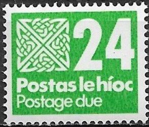 1980 Ireland J34 Postage Due 24p MNH