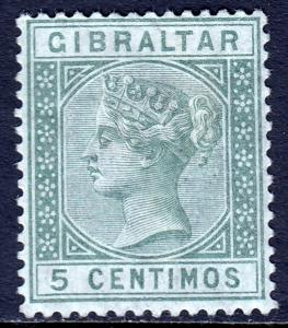 Gibraltar - Scott #29 - MH - Pencil, paper adhesion on reverse - SCV $5.50