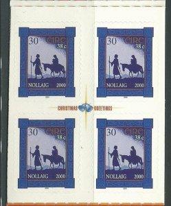 2000 Ireland Scott Catalog Number 1278 Block of 4 Unused Never Hinged