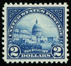 572, Mint $2 Capital XF/Superb NH GEM QUALITY Stamp - Stuart Katz