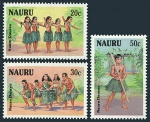 Nauru 331-333,MNH.Michel 330-332. Tribal Dances,1987.