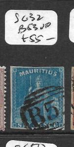 MAURITIUS (P2608B) BRITANNIA 6D SG 32  B53  VFU