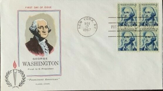 FLUEGEL 1283B George Washington Block of 4 New York, NY