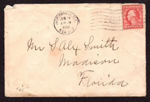 $ Florida Machine Cancel Cover, Jacksonville, 6/14/1916 fewer then 10 recorded