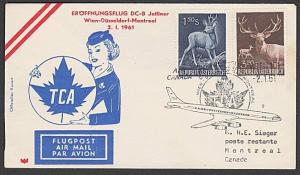 AUSTRIA 1961 First flight cover Vienna to Montreal, Canada.................55421