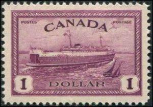 Canada SC# 273  Train Ferry $1.00 MH