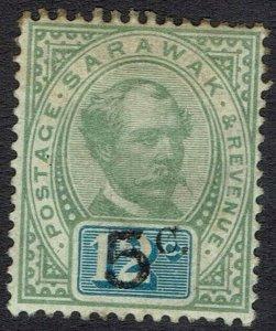 SARAWAK 1889 RAJA BROOKE 5C ON 12C