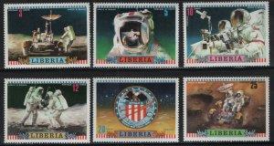LIBERIA, 599-604, (6) SET,  MNH, 1972, Apollo 16 US moon mission