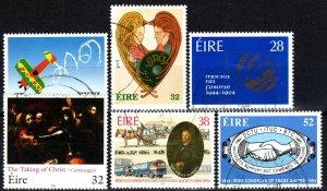 Ireland #913-4, 919-22  F-VF Used CV $7.10 (X5616)