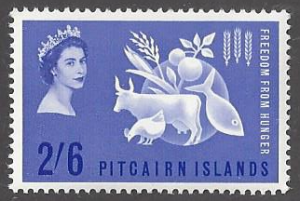Pitcairn Islands  #35 mint, freedom from hunger, issued 1963