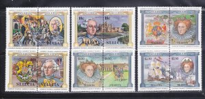 St Lucia 633-638 Set MNH Kings And Queens