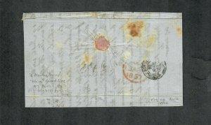 Transatlantic Ship Cover Philadelphia To Cognac 1857 Africa
