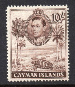 Cayman Islands 1938 KGVI 10/- perf 14 SG 126a mint