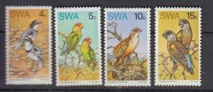 J25919  jlstamps 1974 south west africaset mnh #363-6 birds