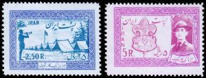 Persia Irun Scott 1052-1053 (1956) Mint NH F-VF C