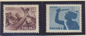 Poland Stamps Scott #664 To 665, Mint Never Hinged - Free U.S. Shipping, Free...
