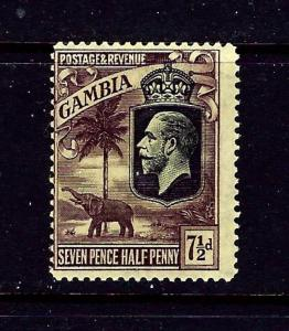 Gambia 122 MH 1922 issue