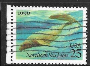 USA 2509: 25c Northern Sea Lion (Eumetopias jubata) , used, VF