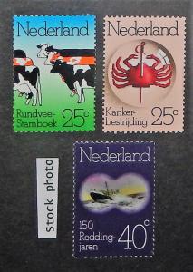 Netherlands 515-17. 1974 Anniversaries, NH