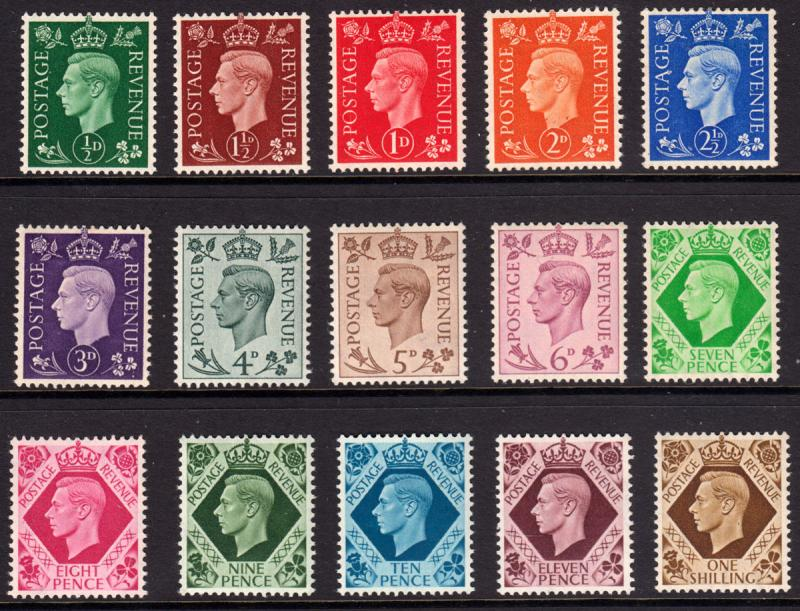 GB KGVI 1937 SET Definitives SG462-SG475 Mint Never Hinged MNH UMM