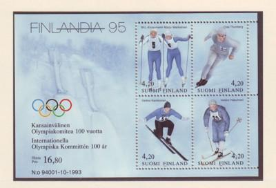 Finland Sc 933 1994 Olympic Medalists stamp sheet mint NH