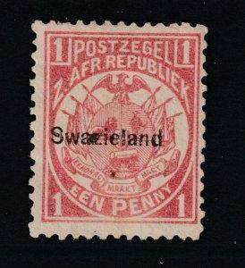 Swaziland a Transvaal 1d overprinted MNG